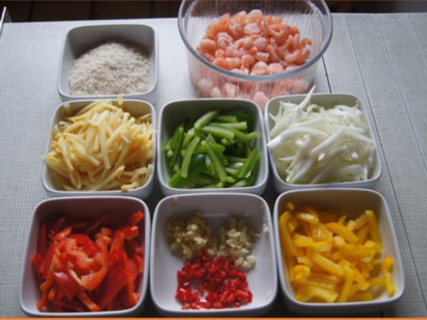 Garnelen-Gemüse-Wok mit Basmatireis - Rezept - Bild Nr. 4