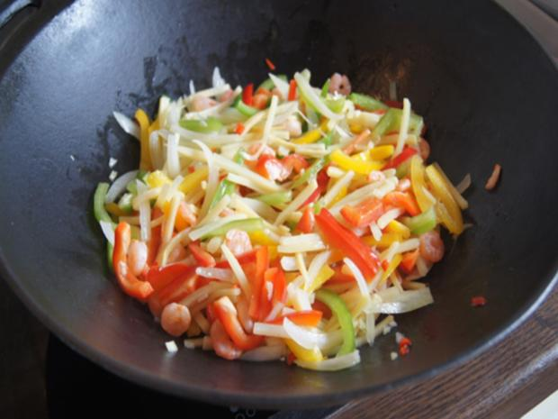 Garnelen-Gemüse-Wok mit Basmatireis - Rezept - Bild Nr. 10