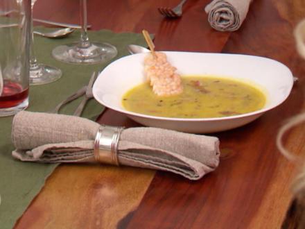 Kalte Gurken-Joghurt-Suppe, Seafood-Chowder und Süßkartoffelchips - Rezept - Bild Nr. 3