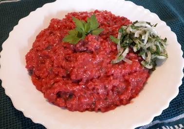 Rote Bete Risotto mit Kräuter-Zwiebel-Salat - Rezept - Bild Nr. 8576