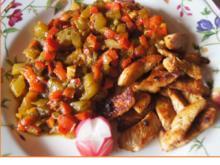 Spitzpaprika-Honigmelonen-Salsa mit Putenbrustfilet - Rezept - Bild Nr. 2