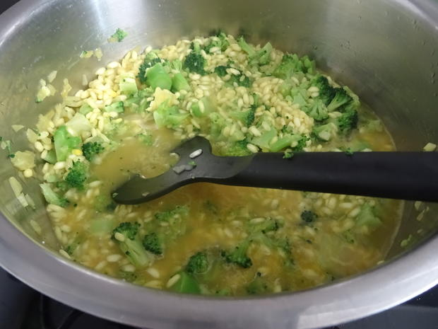 Schlemmerfilet à la Bordelaise auf Broccoli-Risotto - Rezept - Bild Nr. 8569