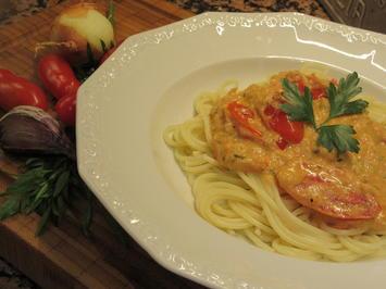 Rezept: Pasta: Spaghetti mit Antipasticreme