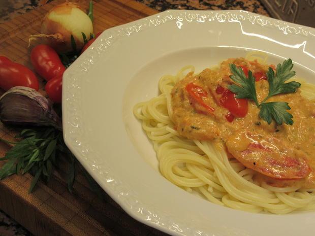 Pasta: Spaghetti mit Antipasticreme - Rezept - Bild Nr. 8570