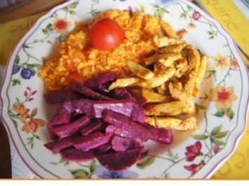 Putenbrustfilet mit Tomatenreis und Rote Bete Salat - Rezept - Bild Nr. 8601