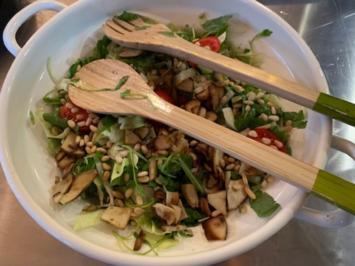 Rezept: Salat mit selbstgesammelten Steinpilzen