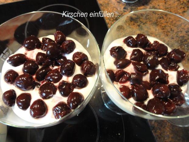 Dessert:   JOGHURT ~ SAHNE  mit Süßkirschen - Rezept - Bild Nr. 6