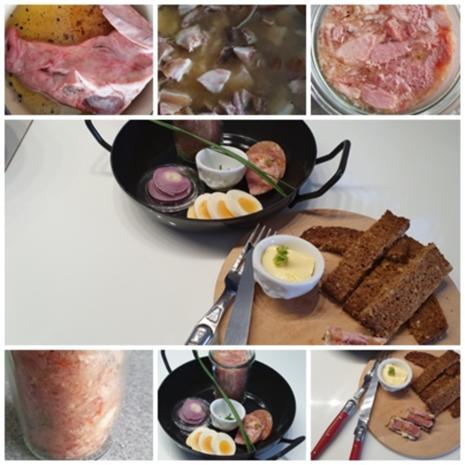 Schweinskopfsülze aus eigener Herstellung - Rezept - Bild Nr. 8618