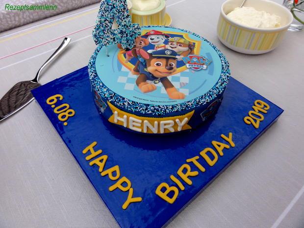 Biskuit:   HAPPY BIRTHDAY TORTE ... - Rezept - Bild Nr. 8624