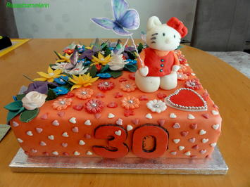 Biskuit:   HAPPY BIRTHDAY TORTE ... Hello Kitty - Rezept - Bild Nr. 8