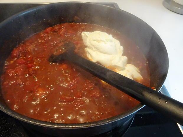 Tagliatelle mit cremiger Salsiccia-Tomatensoße - Rezept - Bild Nr. 8640