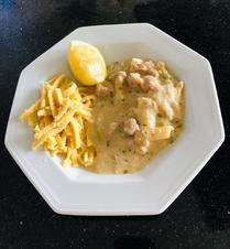 Hühnerfrikassee mit Reis oder Spätzle - Rezept - Bild Nr. 8661