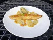 Snoek Braai – Gegrillte Makrele mit Aprikose und Süßkartoffel (Motsi Mabuse) - Rezept - Bild Nr. 2