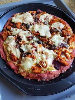 Rote-Bete-Pizzateig - Rezept - Bild Nr. 2