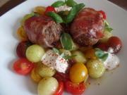 Speck-Buletten mit Tomaten-Melonen-Salat - Rezept - Bild Nr. 8775