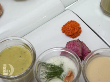 Erbsensüppchen, Champagnersüppchen, kaltes Gurkensüppchen und selbstgemachtes Brot - Rezept - Bild Nr. 8792