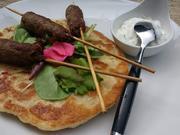 Lammspieße mit Naan - Brot - Rezept - Bild Nr. 8803