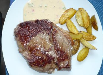 Rumpsteak mit Chili - Cheese - Dip - Rezept - Bild Nr. 2