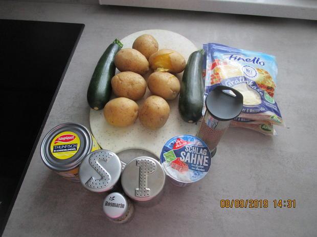 Auflauf mit Tomaten, Kartoffeln  und Thunfisch - Rezept - Bild Nr. 8804