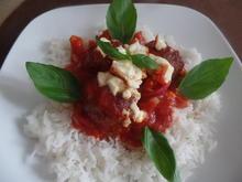 Hackbällchen in Tomatensauce mit Reis - Rezept - Bild Nr. 8803