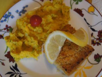 Rezept: Schlemmer-Filet mit Hokkaidokürbis-Kartoffelstampf