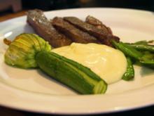 Entrecote mit jungem Gemüse und Kartoffelschaum - Rezept - Bild Nr. 8847