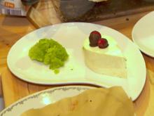 Basilikum-Gin-Sorbet mit Käse-Sahne-Tränen - Rezept - Bild Nr. 2