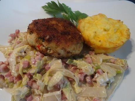 Geflügelfrikadellen mit Rahm-Chinakohl und Kartoffelmuffins, Kochbar-Challenge 9.0 - Rezept - Bild Nr. 8851
