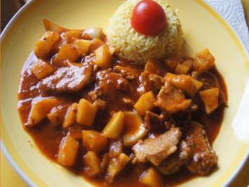 Schweinefilet süß-sauer im Römertopf mit Curry-Basmatireis - Rezept - Bild Nr. 2