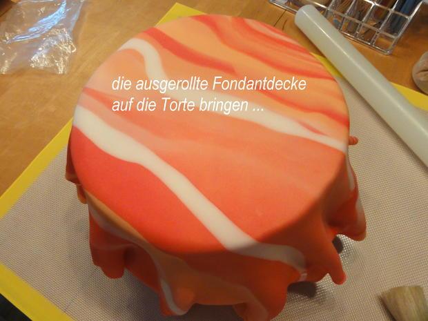 Rührteig:   SCHACHBRETT~TORTE mit Fondant-Deko - Rezept - Bild Nr. 8869