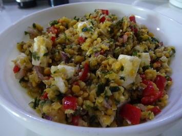 Rote-Linsen-Salat mit Feta - Rezept - Bild Nr. 8855