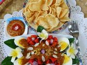 Eier auf Balado Art mit Mungokeimlingen und Erdnusssambal - Rezept - Bild Nr. 8856