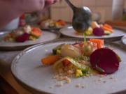 Gemüsegarten mit gebratener Jakobsmuschel und gebeiztem Lachs - Rezept - Bild Nr. 2