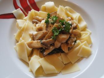 Rezept: Pasta mit Kräuterseitlingen