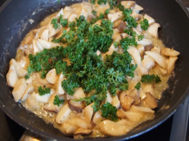 Pasta mit Kräuterseitlingen - Rezept - Bild Nr. 10