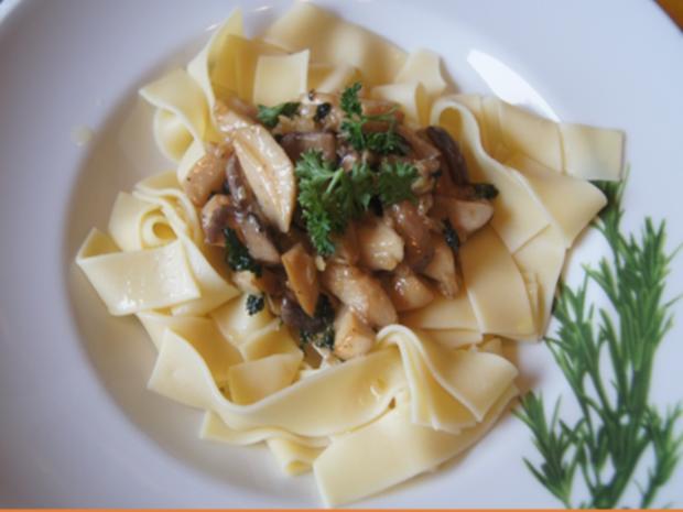 Pasta mit Kräuterseitlingen - Rezept - Bild Nr. 13