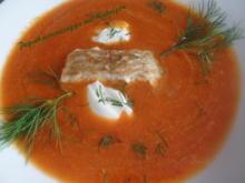 Paprikacremesuppe mit Kabeljau - Rezept - Bild Nr. 8866
