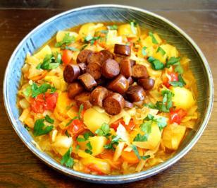 Rezept: Scharfer Kraut-Gemüse-Eintopf