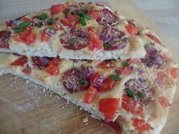 Focaccia mit Chorizo - Rezept - Bild Nr. 8874