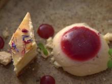 Pana Cotta mit Himbergelee, Cheesecake und Rieslingsorbet - Rezept - Bild Nr. 2