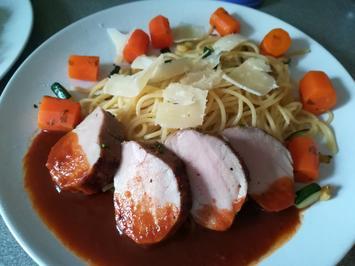 Schweinefilet in Balsamicosauce und Spaghetti - Rezept - Bild Nr. 2
