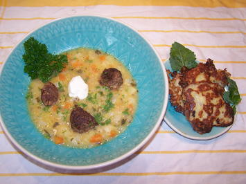 Kartoffel-Gemüse-Suppe mit Einlage und Beilage - Rezept - Bild Nr. 2