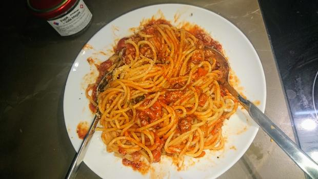 Spaghetti all' amatriciana - Rezept - Bild Nr. 14