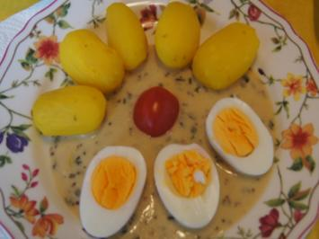 Eier in Senfsauce mit Drillingen und Rote Bete süßsauer - Rezept - Bild Nr. 2