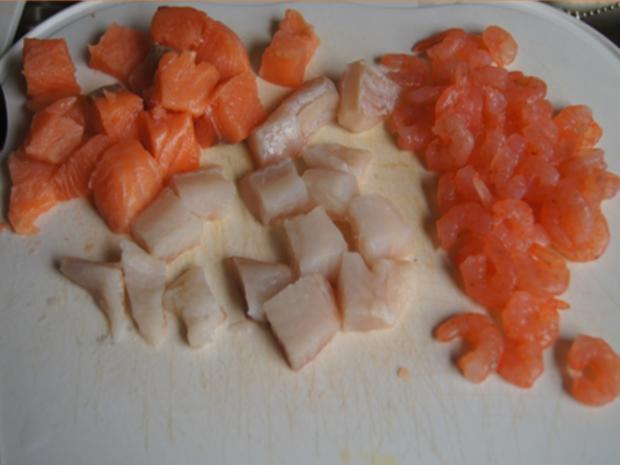 Wok-Fischvariation in Kokossauce mit Basmatireis - Rezept - Bild Nr. 9