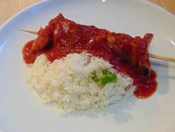 Rezept: Hackfleischspieße mit asiatischer Soße