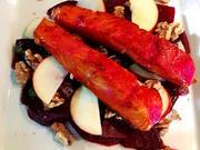 Gebeizter Lachs auf Rote-Bete-Salat - Rezept - Bild Nr. 2