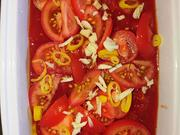 Eier ersoffen in überbackenen Tomaten - Uova affogare nell' pomodori al forno - Rezept - Bild Nr. 2