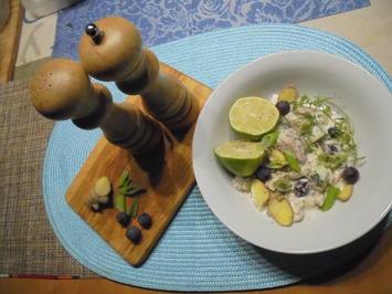 Kartoffelsalat mit Räucherforelle und Kapern - Rezept - Bild Nr. 2