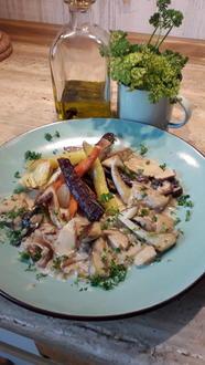 Ofen Gemüse + Frische Steinpilzsoße - Rezept - Bild Nr. 2